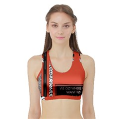 Poster Twenty One Pilots We Go Where We Want To Sports Bra With Border