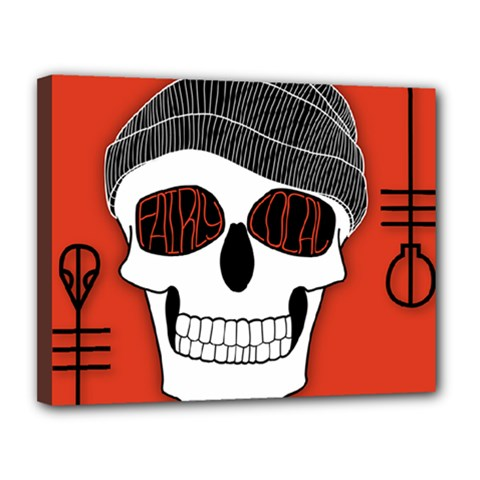 Poster Twenty One Pilots Skull Canvas 14  X 11