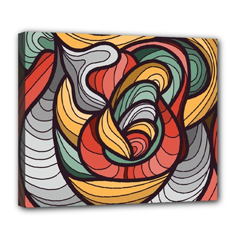 Beautiful Pattern Background Wave Chevron Waves Line Rainbow Art Deluxe Canvas 24  X 20