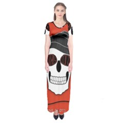Poster Twenty One Pilots Skull Short Sleeve Maxi Dress