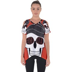 Poster Twenty One Pilots Skull Cut Out Side Drop Tee