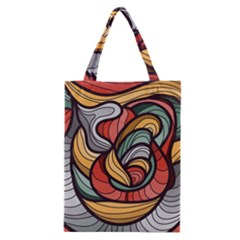 Beautiful Pattern Background Wave Chevron Waves Line Rainbow Art Classic Tote Bag