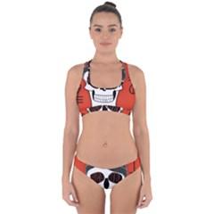 Poster Twenty One Pilots Skull Cross Back Hipster Bikini Set