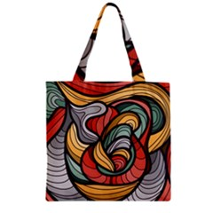 Beautiful Pattern Background Wave Chevron Waves Line Rainbow Art Zipper Grocery Tote Bag