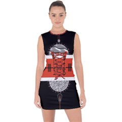 Poster Twenty One Pilots Lace Up Front Bodycon Dress