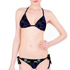 Biostatistics Line Blue Bikini Set