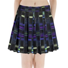 Biostatistics Line Blue Pleated Mini Skirt
