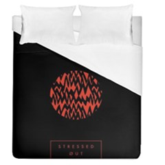Albums By Twenty One Pilots Stressed Out Duvet Cover (queen Size)