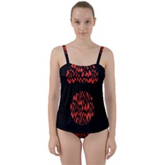 Albums By Twenty One Pilots Stressed Out Twist Front Tankini Set