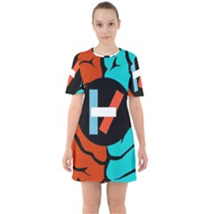 Twenty One Pilots Sixties Short Sleeve Mini Dress