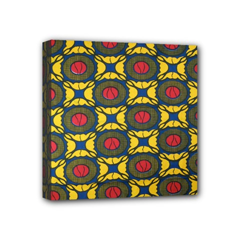 African Textiles Patterns Mini Canvas 4  X 4