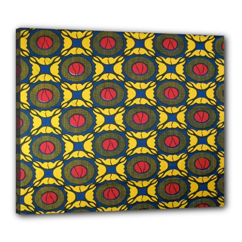 African Textiles Patterns Canvas 24  X 20