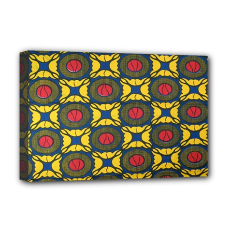 African Textiles Patterns Deluxe Canvas 18  X 12