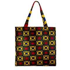 African Textiles Patterns Zipper Grocery Tote Bag