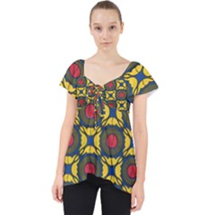 African Textiles Patterns Dolly Top