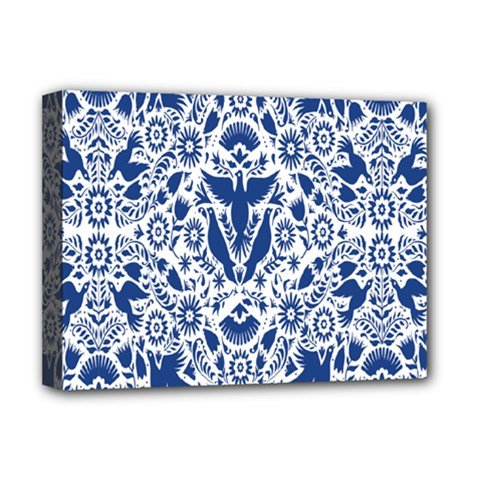 Birds Fish Flowers Floral Star Blue White Sexy Animals Beauty Deluxe Canvas 16  X 12