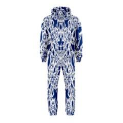 Birds Fish Flowers Floral Star Blue White Sexy Animals Beauty Hooded Jumpsuit (kids)