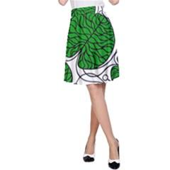 Bottna Fabric Leaf Green A Line Skirt