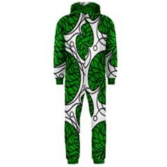 Bottna Fabric Leaf Green Hooded Jumpsuit (men)