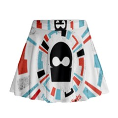 Twenty One Pilots Mini Flare Skirt