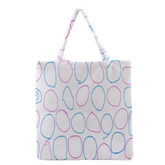 Circles Featured Pink Blue Grocery Tote Bag