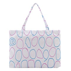 Circles Featured Pink Blue Medium Tote Bag