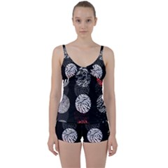 Twenty One Pilots Stressed Out Tie Front Two Piece Tankini
