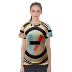Twenty One Pilots Shield Women s Sport Mesh Tee