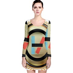 Twenty One Pilots Shield Long Sleeve Bodycon Dress