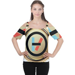 Twenty One Pilots Shield Cutout Shoulder Tee