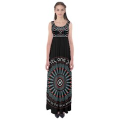 Twenty One Pilots Empire Waist Maxi Dress