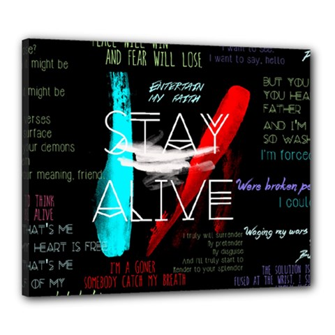Twenty One Pilots Stay Alive Song Lyrics Quotes Canvas 24  X 20