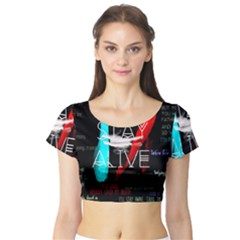 Twenty One Pilots Stay Alive Song Lyrics Quotes Short Sleeve Crop Top (tight Fit)