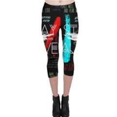 Twenty One Pilots Stay Alive Song Lyrics Quotes Capri Leggings