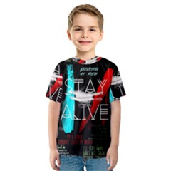 Twenty One Pilots Stay Alive Song Lyrics Quotes Kids  Sport Mesh Tee