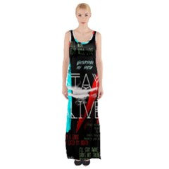 Twenty One Pilots Stay Alive Song Lyrics Quotes Maxi Thigh Split Dress