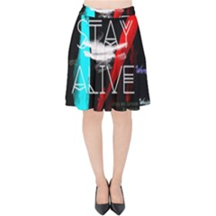 Twenty One Pilots Stay Alive Song Lyrics Quotes Velvet High Waist Skirt