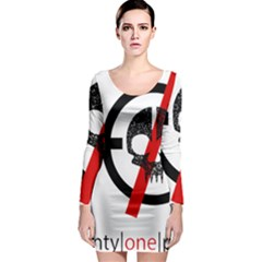 Twenty One Pilots Skull Long Sleeve Bodycon Dress