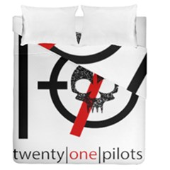 Twenty One Pilots Skull Duvet Cover Double Side (queen Size)