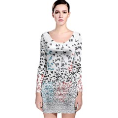 Twenty One Pilots Birds Long Sleeve Bodycon Dress