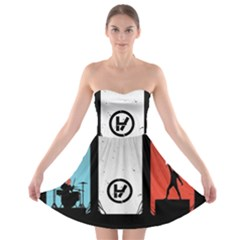 Twenty One 21 Pilots Strapless Bra Top Dress