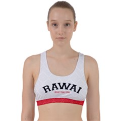White And Red Back Weave Sports Bra