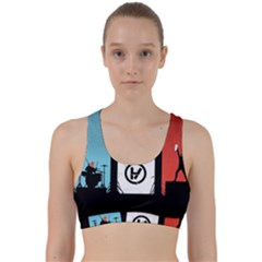 Twenty One 21 Pilots Back Weave Sports Bra