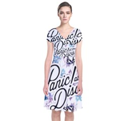 Panic! At The Disco Short Sleeve Front Wrap Dress