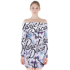 Panic! At The Disco Long Sleeve Off Shoulder Dress