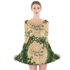 Panic At The Disco Long Sleeve Velvet Skater Dress