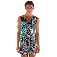 Panic! At The Disco College Wrap Front Bodycon Dress