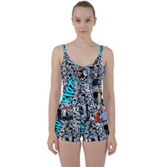 Panic! At The Disco College Tie Front Two Piece Tankini