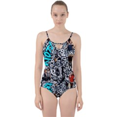 Panic! At The Disco College Cut Out Top Tankini Set
