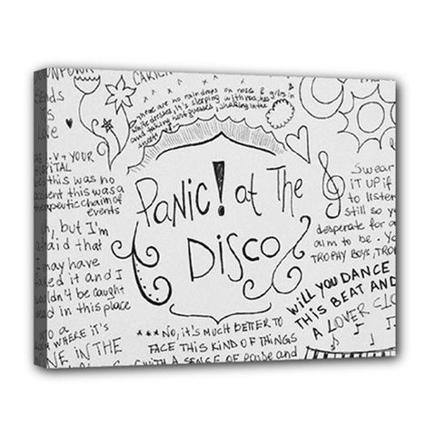 Panic! At The Disco Lyrics Canvas 14  X 11